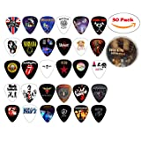 Cheerhas 30pcs Medium Guitar Picks Different Famous Rock Band Collection Double Side Color Printing Best Celluloid Guitar Picks For Musice Gift Music Lover 0.71mm (0.71mm+30PCS, Mixed Color) (Color: Mixed Color, Tamaño: 0.71mm+30PCS)