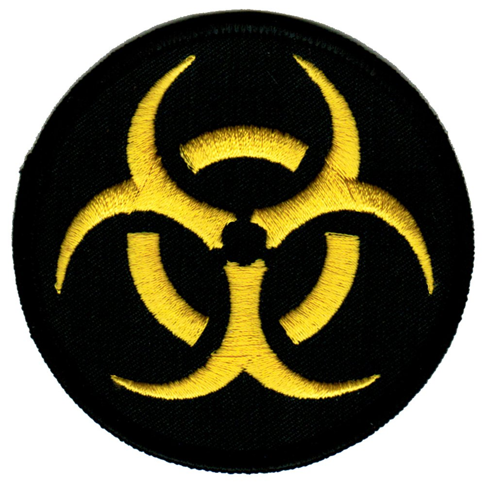 pin radiation sign green brown background widescreen hd