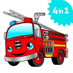 Cool Big Fire Truck games for kids free activity app from Emerald Games