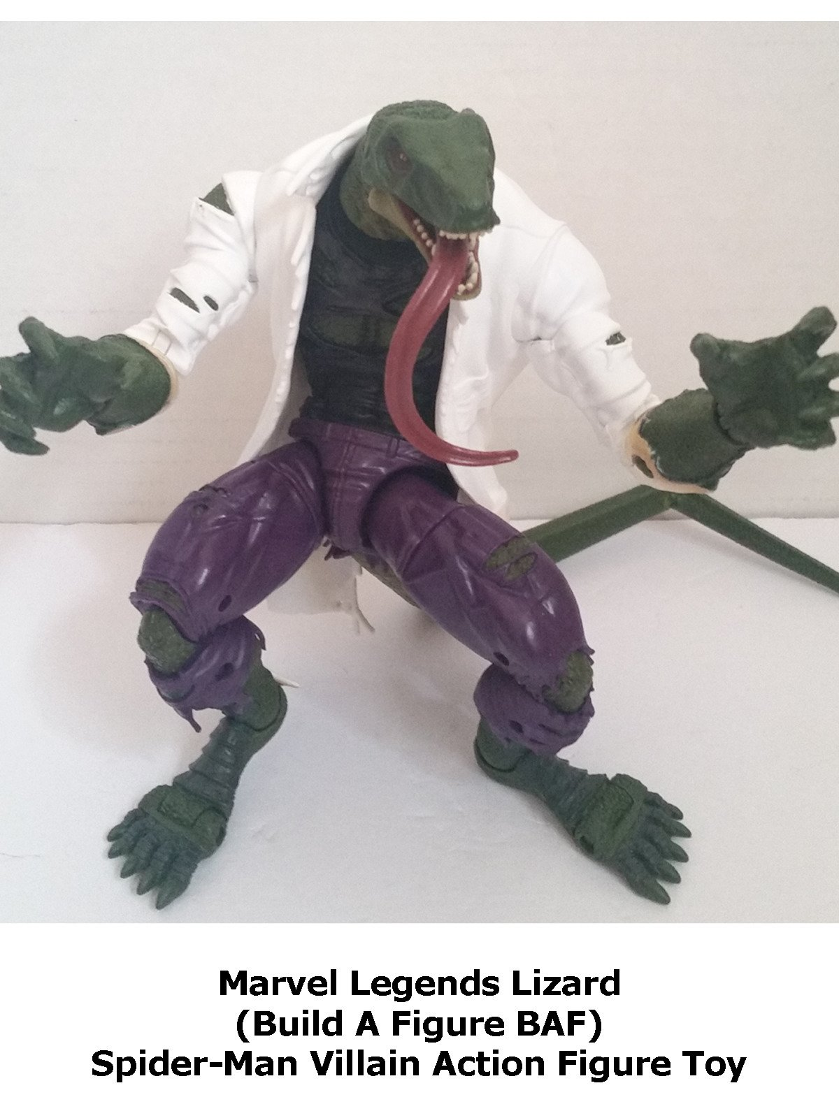 Review: Marvel Legends Lizard (Build A Figure BAF) Spider-Man Villain Action Figure Toy