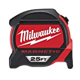 Milwaukee Tool 48-22-7125 Magnetic Tape Measure 25 ft x 1.83 Inch (Color: Basic, Tamaño: Pack of 1)