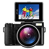 """Digital Camera Camcorder Full HD Digital Video Camcorder 1080P 24.0MP 3"""" LCD Flip Screen Vlogging Camera with Wide Angle Lens and Flash Light"""
