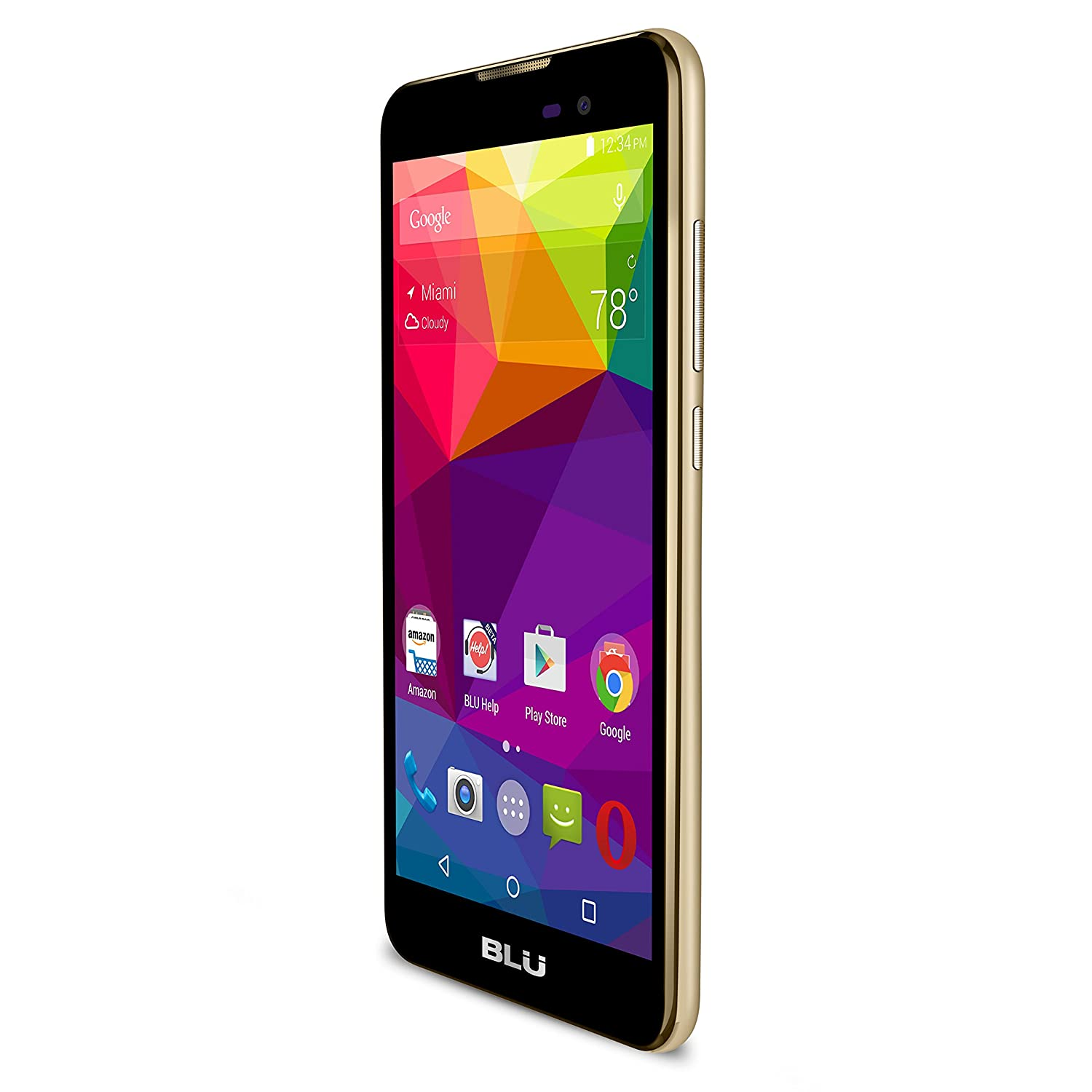 "BLU Dash M - 5.0"" Smartphone - Global GSM Unlocked - Gold"