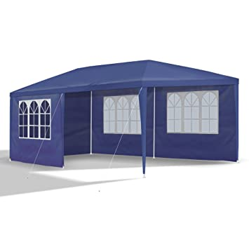 gartenpavillon 3 x 6 m blau pavillon pavillion. Black Bedroom Furniture Sets. Home Design Ideas