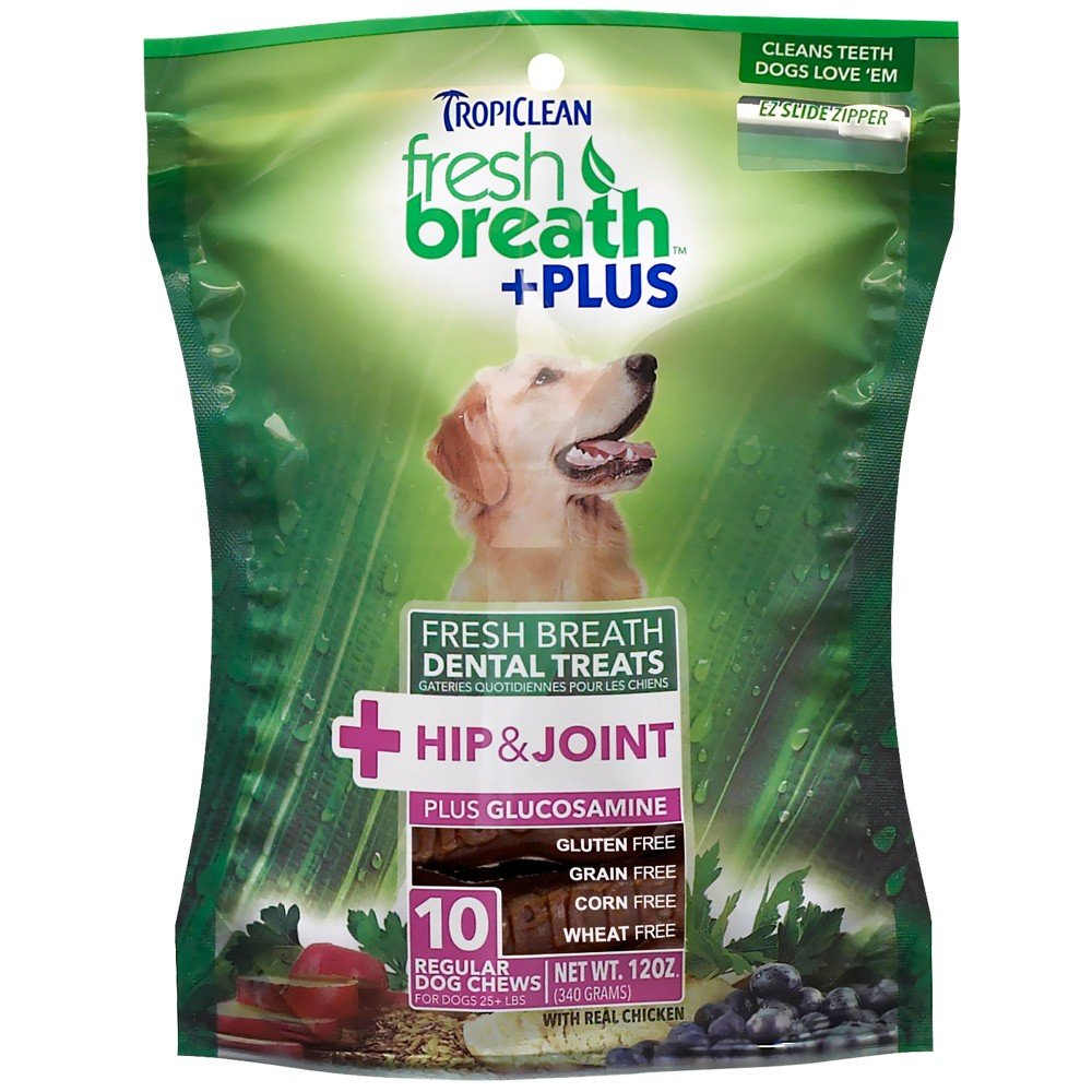 Fresh Breath Plus Dental Treats Hip Joint Regular (10 chews) one breath at a time