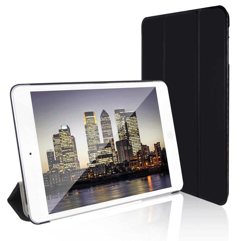 iPad Mini Case, JETech® Gold 2 Serial Apple iPad Mini and the New iPad Mini 1/2/3 All Models Slim-Fit Folio Smart Case Cover with Auto Sleep/Wake Feature (Black)