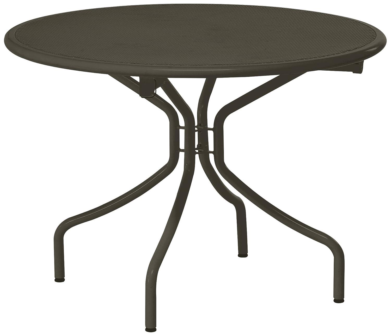 Emu 308744100 Cambi Klapptisch 874, ø 108 cm, pulverbeschichteter Stahl, indish braun günstig bestellen