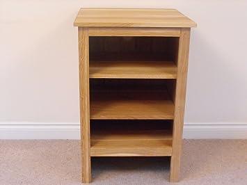 Madera de pino de la unidad de alta fidelidad, con función de atril armario o, 580 x 800 mm, 2 estante, gran mesa baja para conservatorio