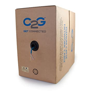 C2GCables to Go 27340 Cat5E UTP Solid Plenum