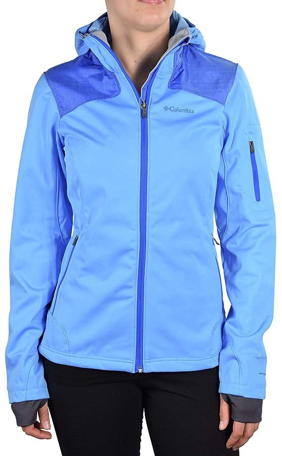 Columbia Women's Guide Ride Softshell Full Zip Jacket-Blue