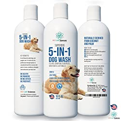 Pet Care Sciences Professional Grade Sensitive Dog & Puppy Shampoo with Coconut Oil & Palm Oil