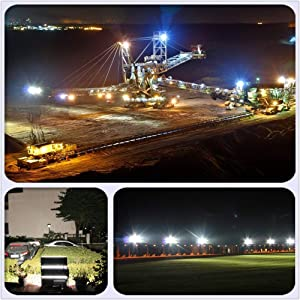 300W LED Flood Light, Hugging LED Flood Light Outdoor, IP67 Waterproof, 6500K Cold White, 30000lm Super Bright Outdoor Stadium Light for Stadium, Square, Dock Post (300watt) (Color: Cool White, Tamaño: 300W)