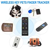 Integrated Key Pets Finder Tracker,ldcx Wireless RF Item Locator Anti Lost Keys Phone Pet Cat Dog Keychain Wallet Luggage Tag Alarm Reminder,1 RF Transmitter 6 Receivers Remote Tracking Finders (Color: Key Pet Finder 3- Black)