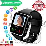 Smart Watch,Smartwatch for Android Phones, Smart Watches Touchscreen with Camera Bluetooth Watch Phone with SIM Card Slot Watch Cell Phone Compatible Android Phone XS X8 7 6 5 Men Women (Black New) (Color: Black)
