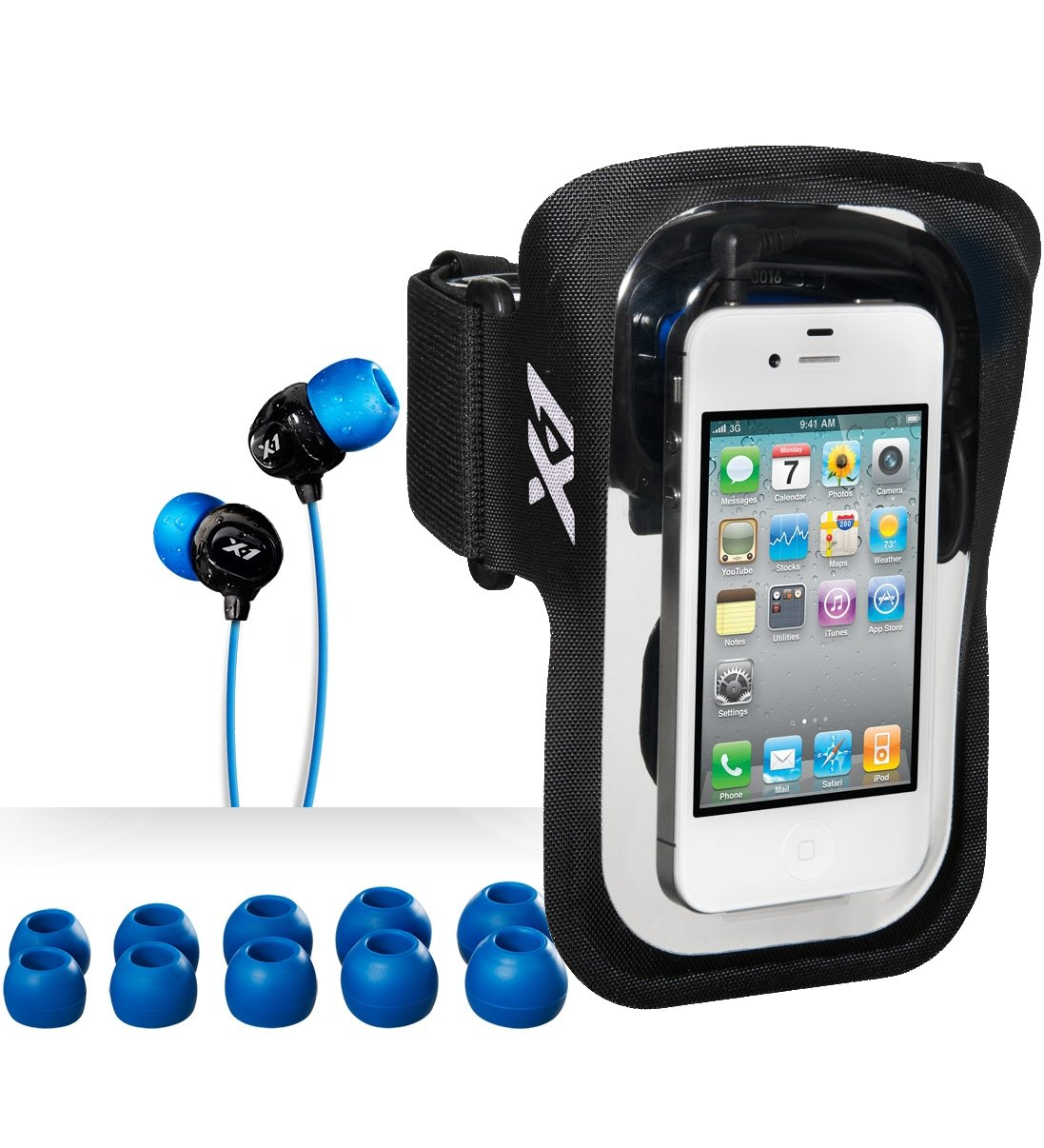 Amphibx Fit Waterproof Armband Case with headphones