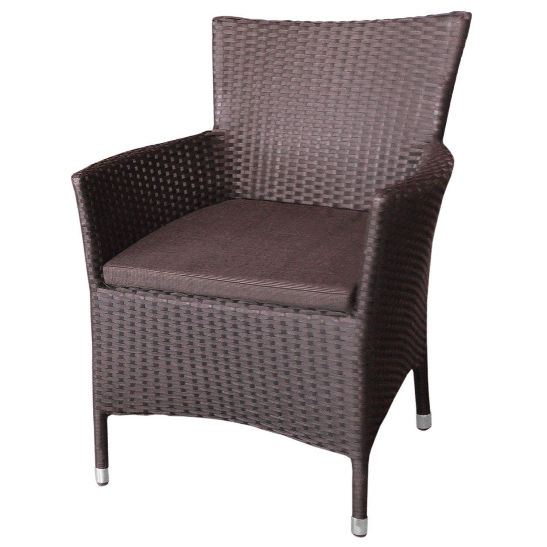 Poly Rattan Sessel Gartensessel Rattansessel inkl. Sitzkissen Sitzmöbel – Braun jetzt bestellen
