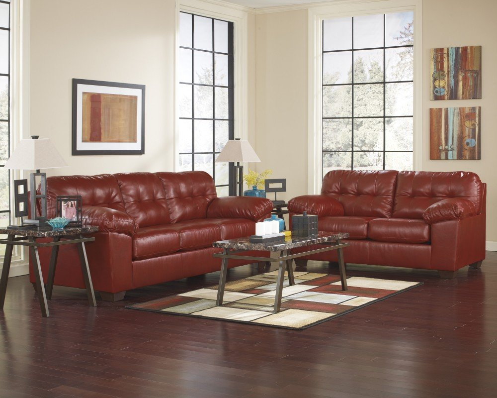 Ashley Furniture Industries - Alliston Durablend Stationary Set - (Includes: 1 Sofa & 1 loveseat)