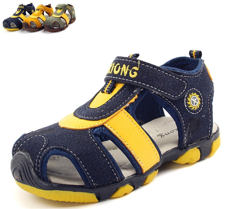 DADAWEN Boy's Girl's Hook and Loop Sport Sandal (Toddler/Little Kid/Big Kid) teva jansen leather kids sport shoe toddler little kid big kid