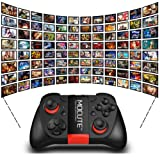 New Wireless MOCUTE Game Controller Joystick Gamepad Joypad for Smart Phones (Color: Black, Tamaño: 142*90*46mm)