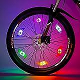 Willceal Bike Spoke Light 6PCS, Bike Wheel Light,Tyre Wire Right with 6 LED Flash Model Neon Lamps,Bike Safety Alarm Light. (Color: Six colors)