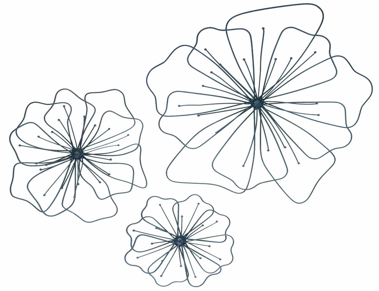 Floral metal wall art decorations beautiful and elegant for Decorate with flowers amazon