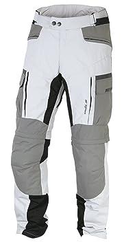 NERVE 15110714161_02 G-Drive Pantalon de Moto Touring Textile, Blanc/Gris, Taille : S