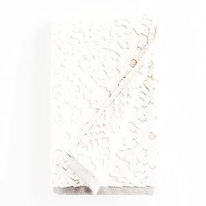 Blush Barcelona Tile Sculpted Hand Towel
