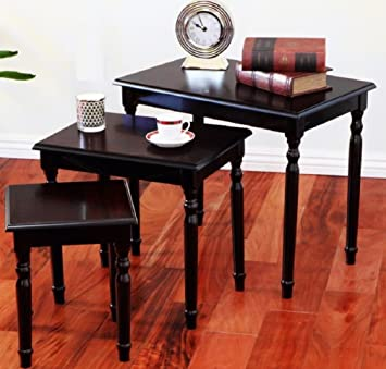 3 Piece Cherry Nesting Tables, End Tables for Living Room, Elegant Piece of Traditional Furniture, Wooden Coffee Tables for Home Decor, End Tables with Mixture of Vintage Style, Contemporary Style , Cottage Style and Country Style