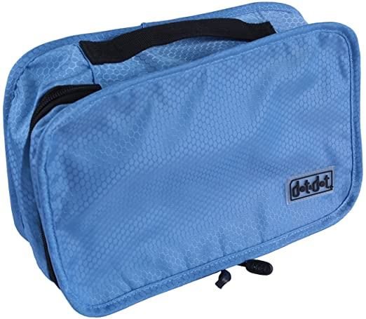 "Toiletry Bag - Travel Accessories Organizer for Men and Women - Hanging Toiletry Kit for Travel Essentials, Beauty Product, Business Travel Accessories, Toiletries Storage - Packing System Safe for International Airline Traveling (11"" x 6.75"" x 3"", Light Blue)"