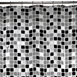Maytex Tiles PEVA Shower Curtain, Black