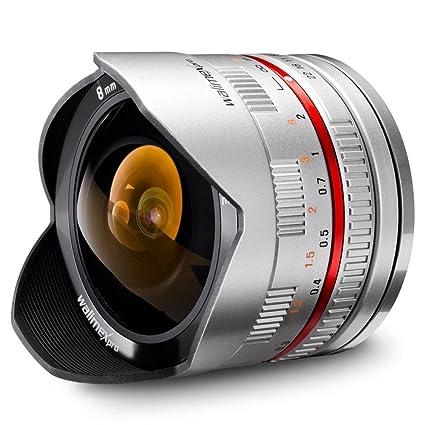Walimex-Objectif 8 mm f/2.8 Objectif Fisheye pour Samsung NX Argenté