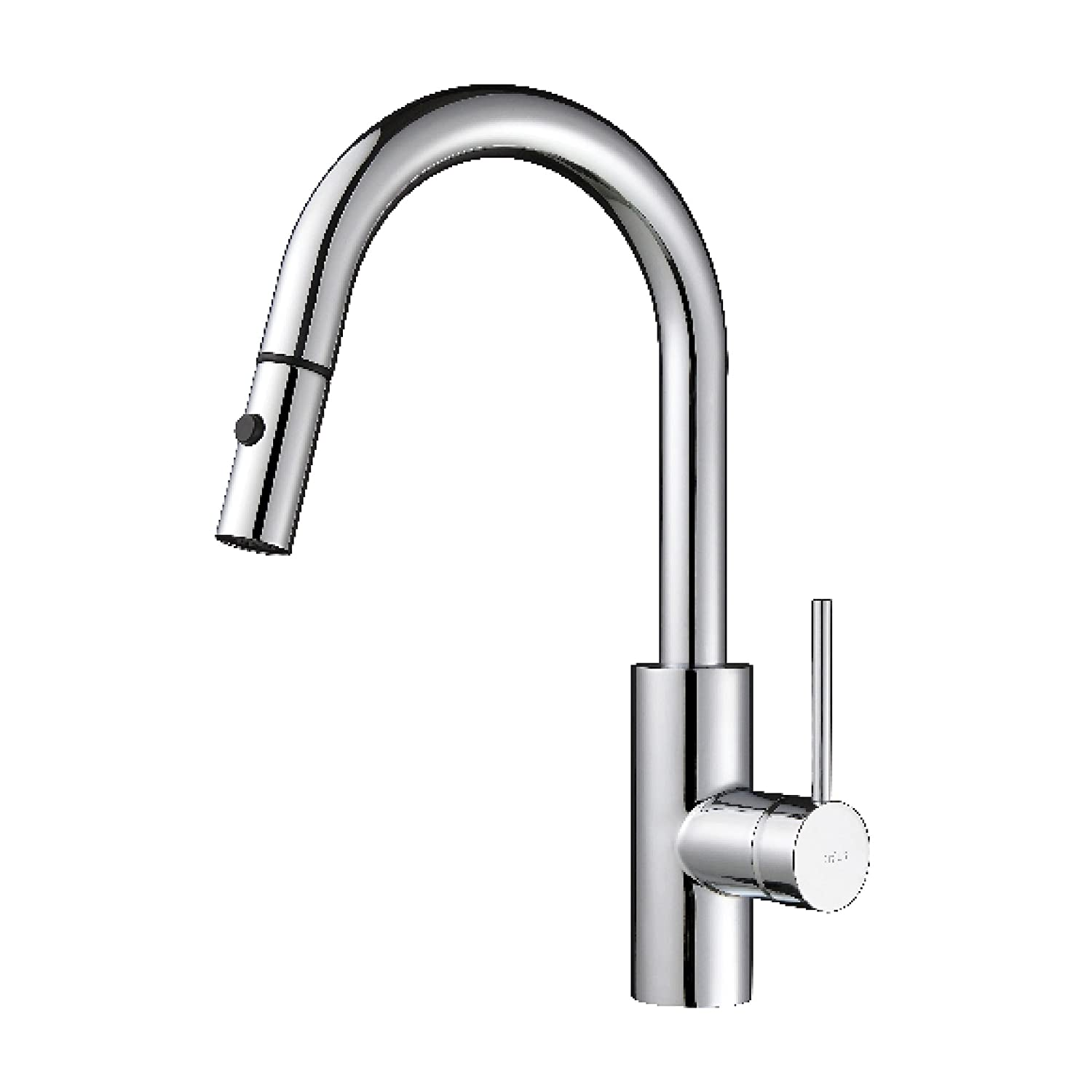 Kraus KPF-2620CH Modern Mateo Single Lever Pull Down Kitchen Faucet, Chrome