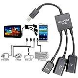 Cable adaptador 3 en 1 Micro USB HUB OTG extensión adaptable para Smartphone y tablet