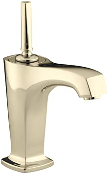 KOHLER K-16230-4-AF Margaux Single Control Lavatory Faucet, Vibrant French Gold