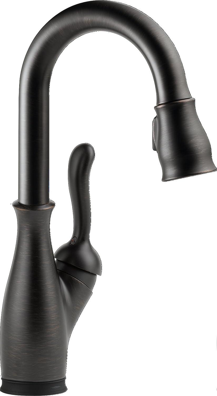 Delta Faucet 9678T-RB-DST Leland Bar/Prep Faucet with Touch2O, Venetian Bronze