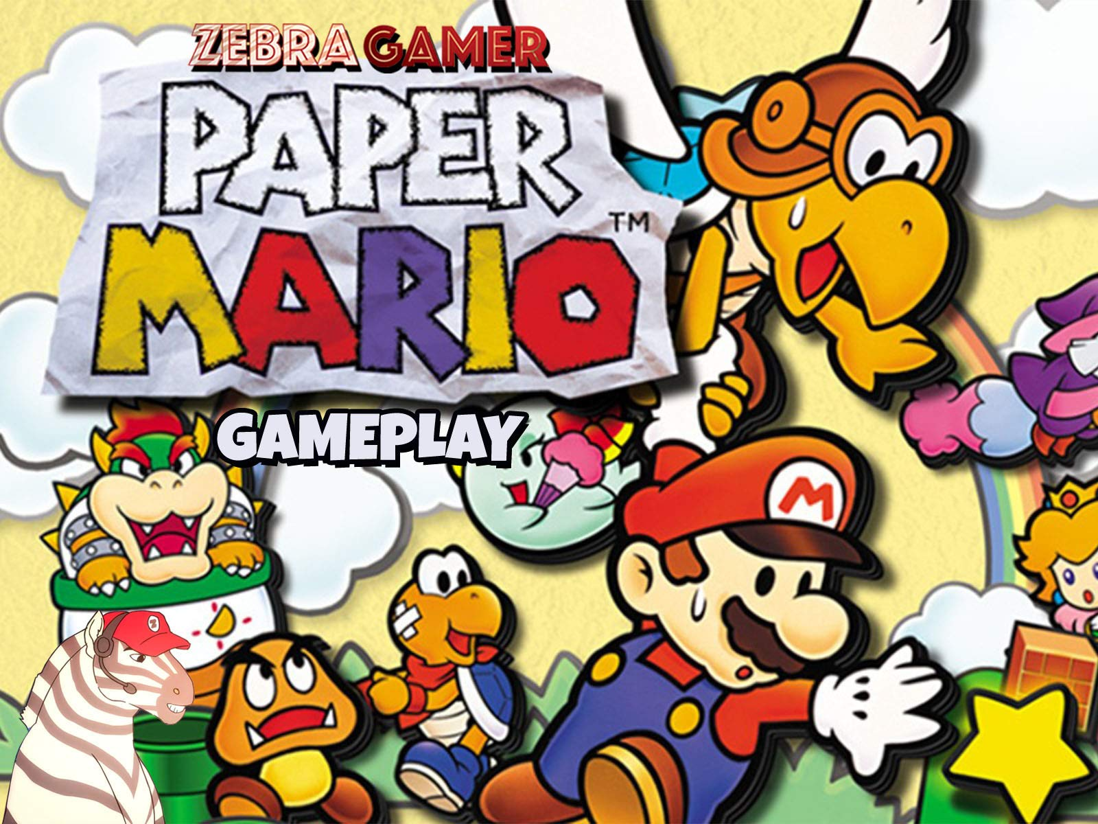 Clip: Paper Mario Gameplay - Zebra Gamer - Season 2
