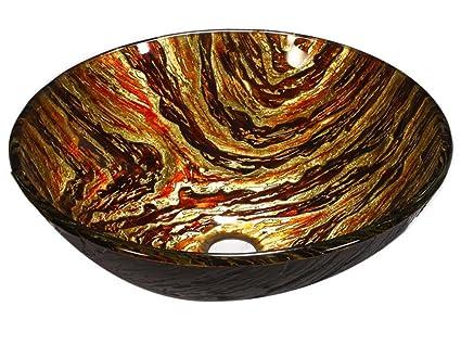 FEN Lavabo di vetro tappeto di lusso Superior Lavandino di vasca da bagno di vassoio del banco da bagno della stanza da bagno T12 * ø420 * H145mm