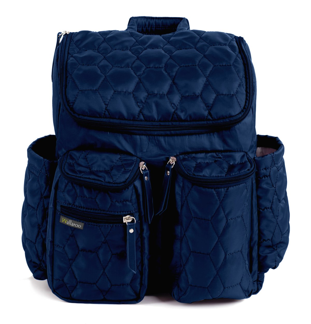 Wallaroo Diaper Bag Backpack with Stroller Straps, Wet Bag and Diaper Changing Pad