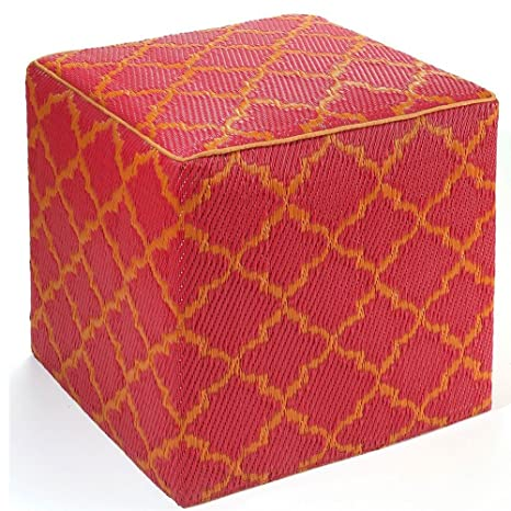 Fab Habitat Tánger - Cáscara de Naranja y Colorete Rojo Cube