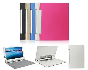 IVSO Slim-Book Funda de Cuero con Soporte para Lenovo YOGA 2 Pro 13.3-Inch Tablet (Blanco)  Electrónica Comentarios de clientes y más información