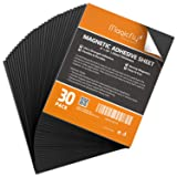 Magnetic Adhesive Sheet 8 X 10 Inch, Magicfly Pack of 30 Flexible Magnet Sheets with Adhesive, Easy Peel and Stick Self Adhesive for Photos Crafts (Tamaño: 8'' x 10'', Pack of 30)