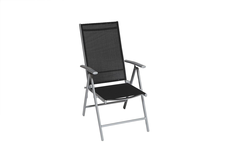 MERXX Gartensessel Klappsessel Amalfi 5 Positionen (Farbe: schwarz) günstig online kaufen
