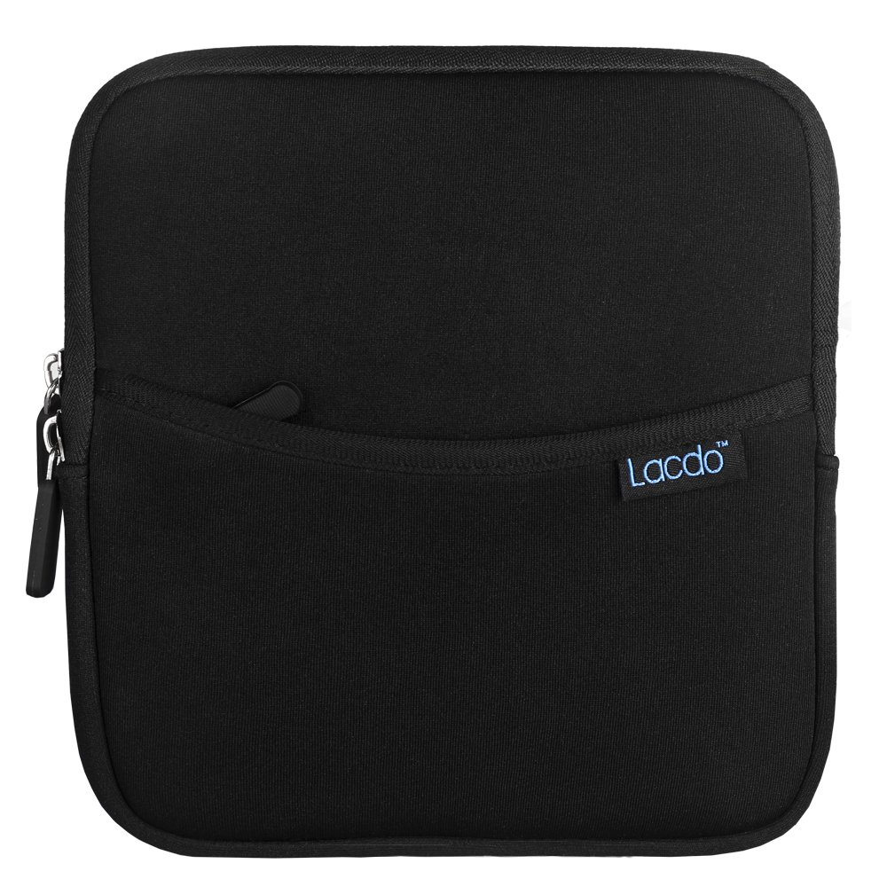 Lacdo Shockproof External USB CD DVD Writer Blu-Ray & External Hard Drive Neoprene Protective Storage Carrying Sleeve Case Pouch Bag With Extra Storage Pocket for Apple MD564ZM/A USB 2.0 SuperDrive / Apple Magic Trackpad / SAMSUNG SE ..