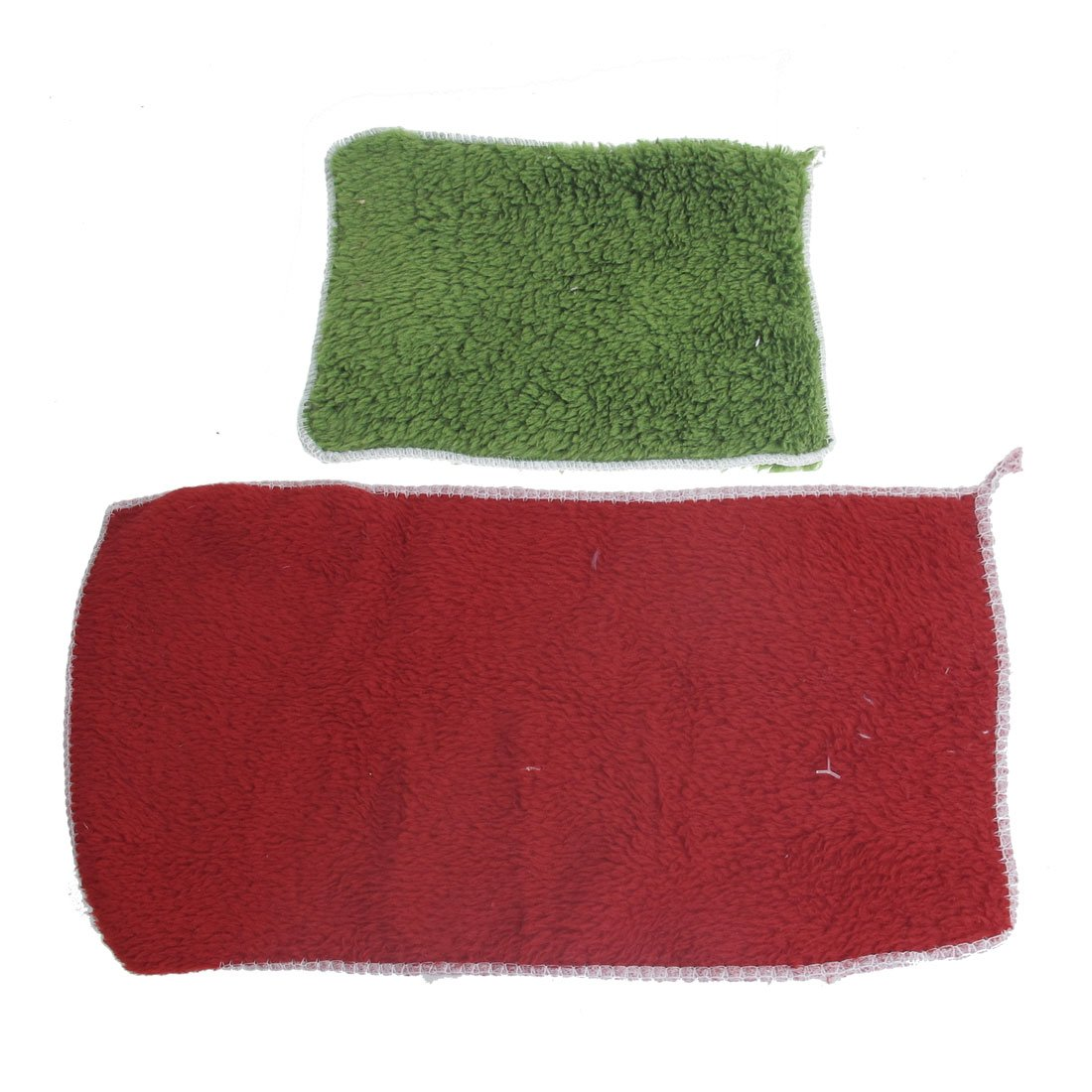 2 Pcs Vehicle Windscreen Clean Washing Towel Burgundy Olive Green clean green drinks