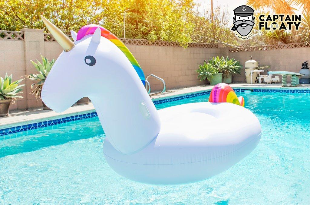 Captain Floaty Giant Unicorn Swimming Pool Float 8