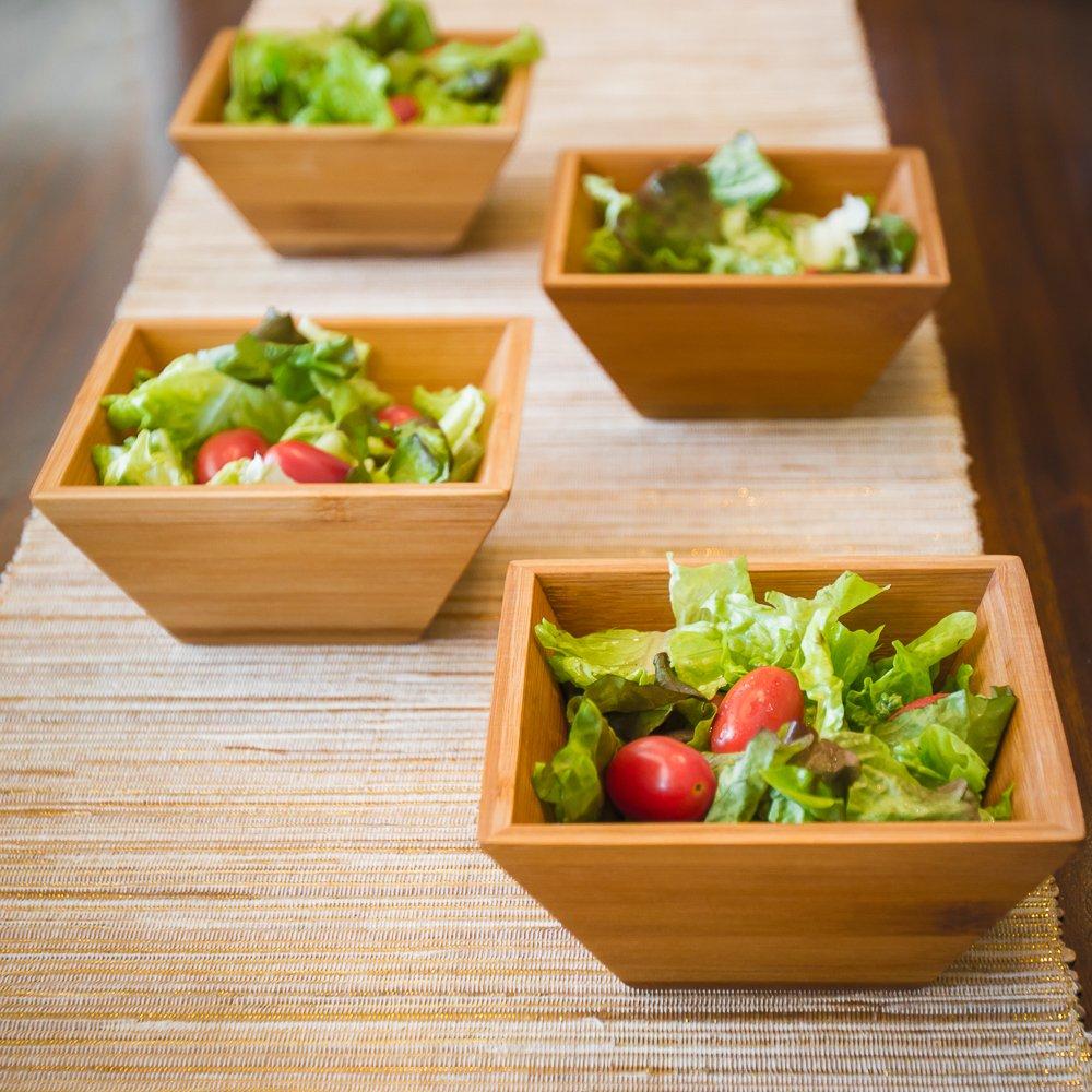 Wood Salad Bowl For Serving Salad, Pasta, Soup, and Fruit