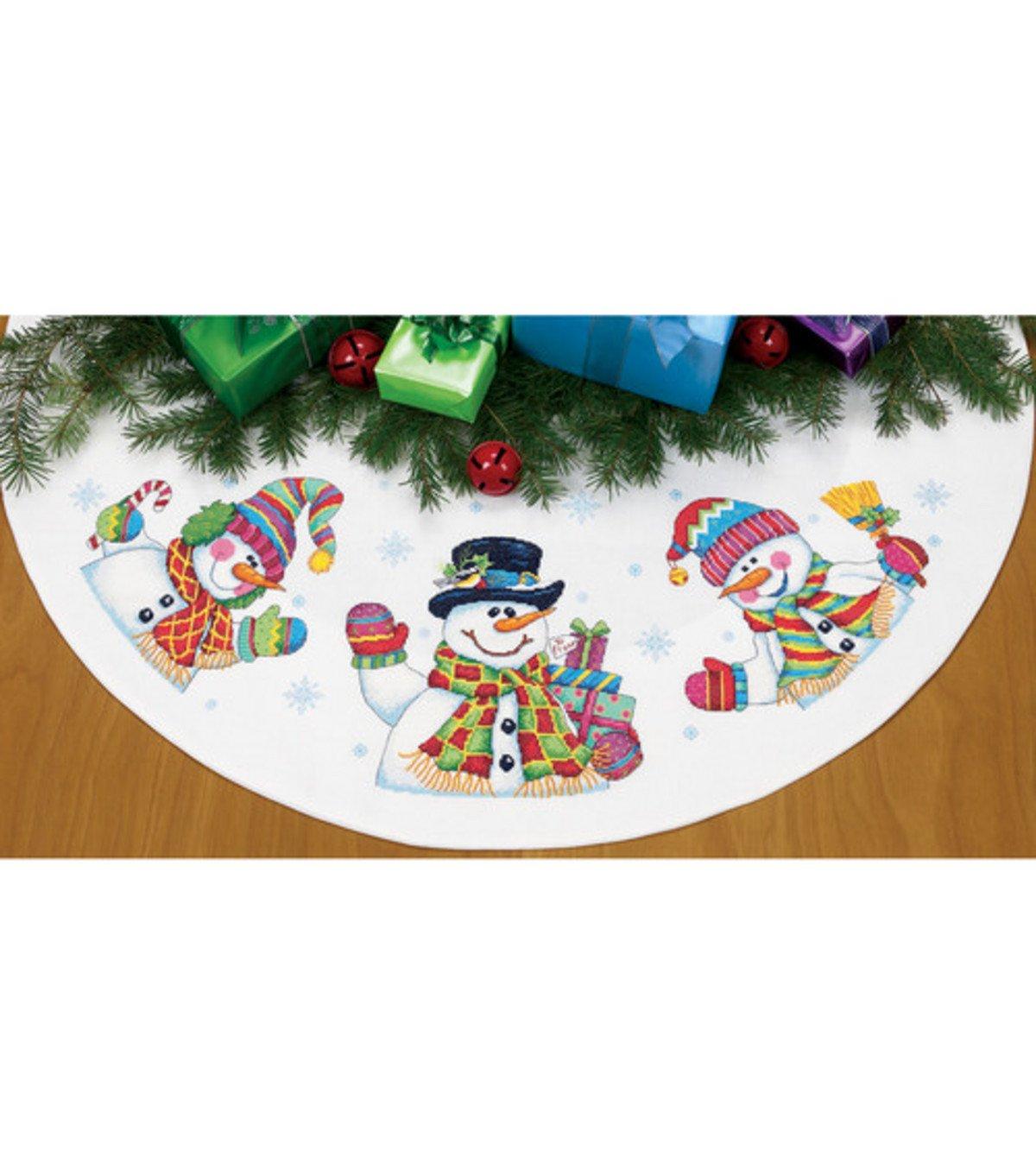 Snowman Christmas Tree Skirts