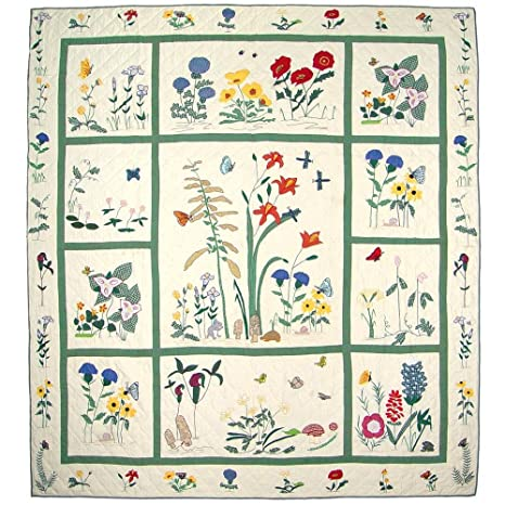 "Wild Flower Quilt King 105""x 95"" QKWLFL by Patch Magic"