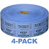 Raffle 50/50 Tickets 2000 ct per Roll (Blue (4-Pack)) (Color: Blue (4-pack))