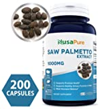 Best Saw Palmetto Extract 1000mg per Caps 200 Capsules (NON-GMO & Gluten Free) - Healthy Urination Frequency & Flow Formula - May Help Block DHT - Made in USA - 100% MONEY BACK GUARANTEE!